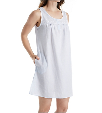 Miss Elaine Seersucker Sleeveless Chemise