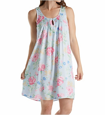 Miss Elaine Printed Woven Rayon Chemise