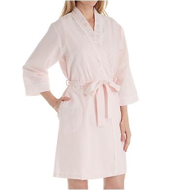 Miss Elaine Seersucker Short Robe
