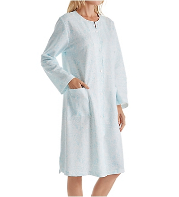 Miss Elaine Silkyknit Button Front Robe