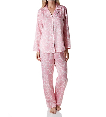 Miss Elaine Brushed Back Satin PJ Set