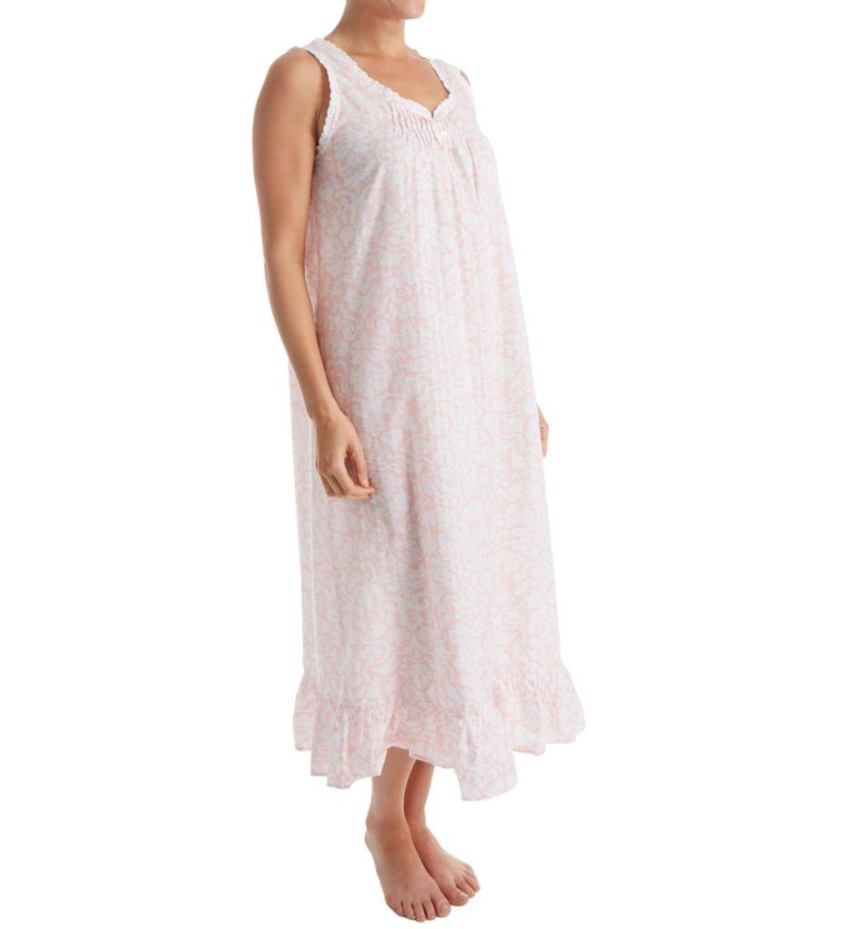 Miss Elaine Woven Plisse Long Gown