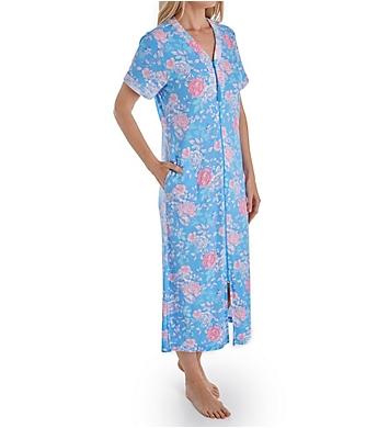 Miss Elaine Cottonessa Short Sleeve Long Zip Robe