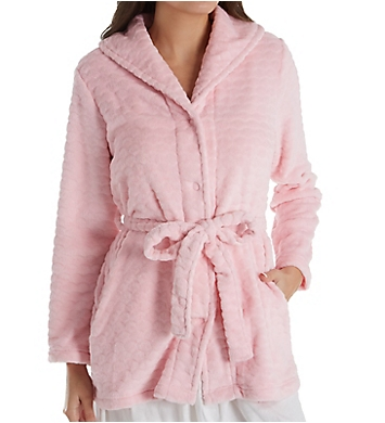 Miss Elaine Cuddle Fleece Button Front Bed Jacket