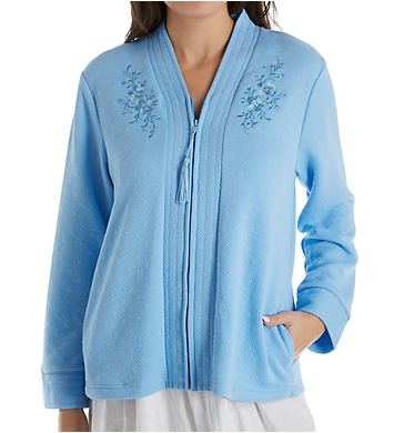 Miss Elaine Quilt-In-Knit Bed Jacket