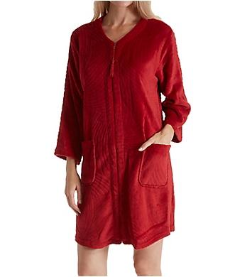 Miss Elaine Jacquard Cuddle Fleece Short Zip Robe