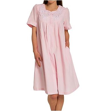 Miss Elaine Seersucker Short Snap Robe