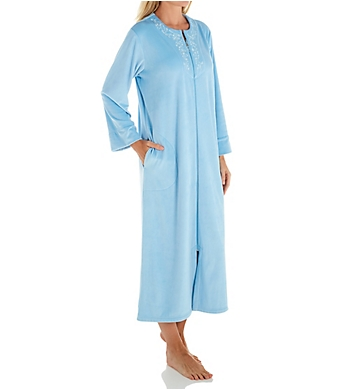 Miss Elaine Luxe Fleece Long Zip Robe