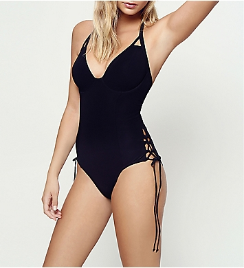 Miss Mandalay Icon Underwire Halter Plunge One Piece Swimsuit