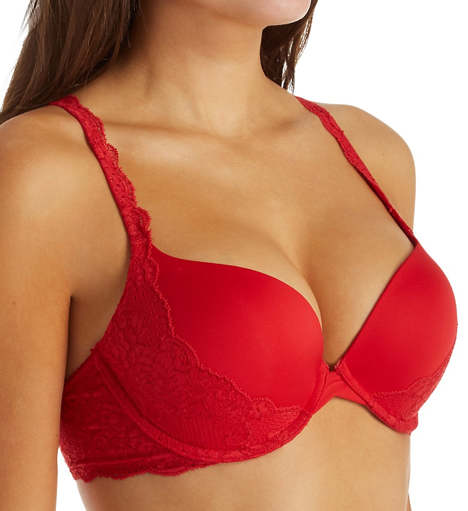 Montelle - Montelle 9290 Cabaret Kisses Allure Light Push Up Bra (Red 34A)