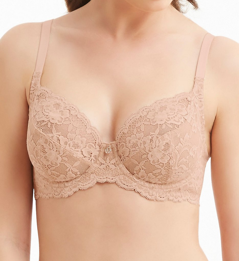 Montelle - Montelle 9323 Essentials Divine Full Coverage Lace Bra (Nude 34C)