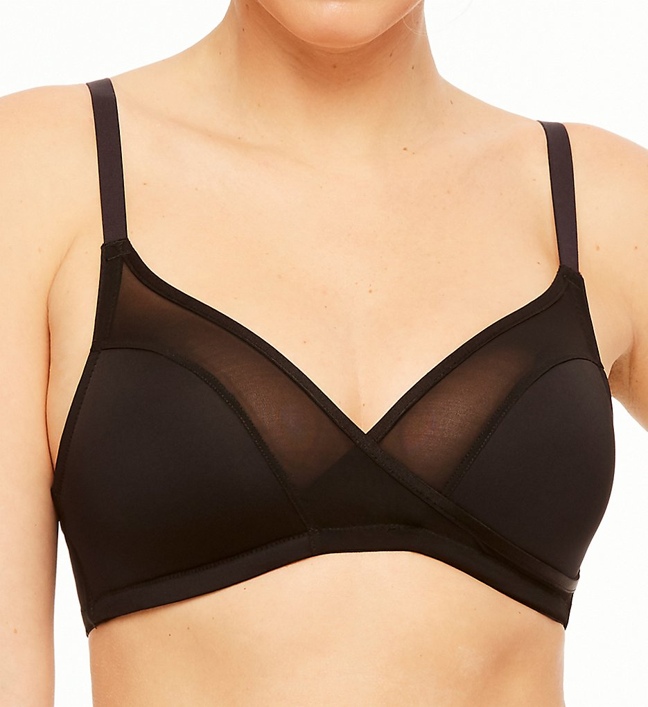 Montelle - Montelle 9327 Essentials Wire Free Plus T-Shirt Bra (Black 32E)