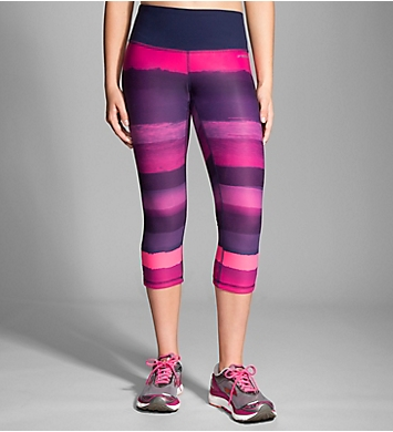 Moving Comfort Greenlight Printed Reversible Capri