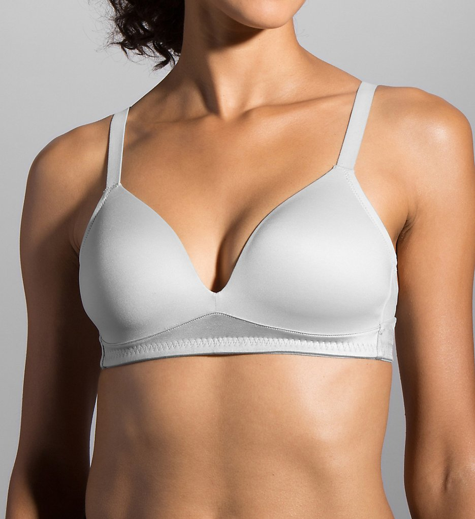 Moving Comfort - Moving Comfort 350066 Anyday Contour Cup Medium Impact Sports Bra (Sterling 32B)