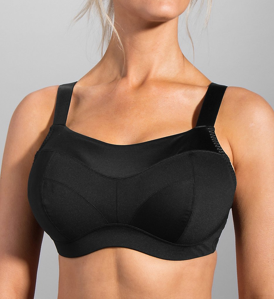 Moving Comfort - Moving Comfort 350067 Embody Sports Bra (Black 32DD)