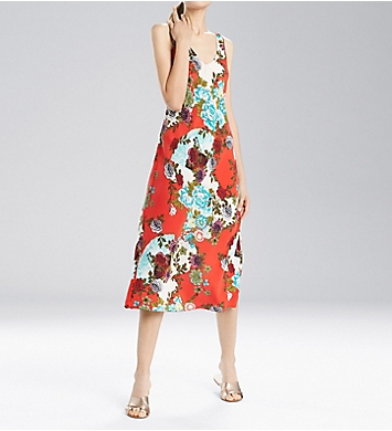N by Natori Blossoming Fans Gown