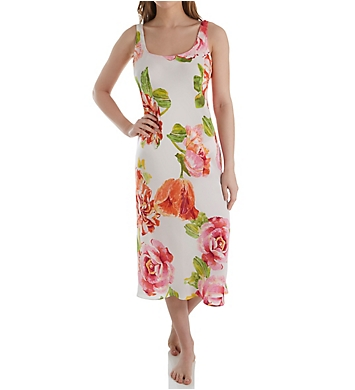 N by Natori South Pacific Silky Satin Gown