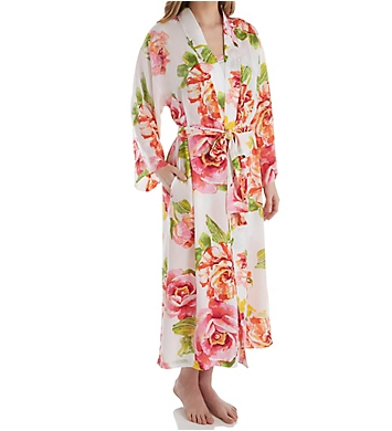 N by Natori South Pacific Silky Satin Robe