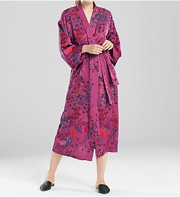 N by Natori Printed Silky Satin Robe