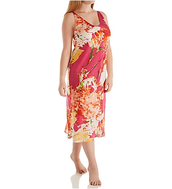 N by Natori Painted Bouquet Gown