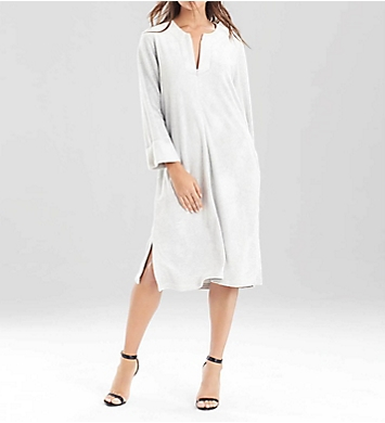 N by Natori Terry Lounge Long Zip Caftan