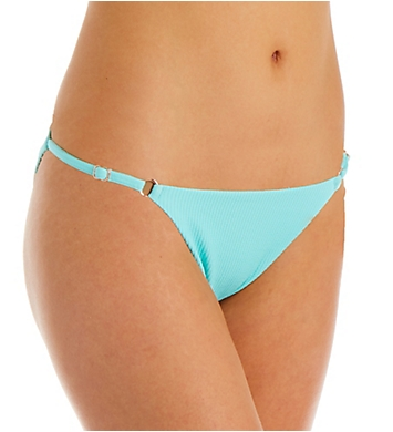 Nanette Lepore Smocked Solids Adjustable Ring Swim Bottom