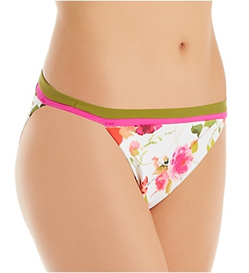 Nanette Lepore Silk Blossoms-White Classic Swim Bottom