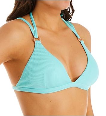 Nanette Lepore Smocked Solids Francesca Fix Tri Swim Top