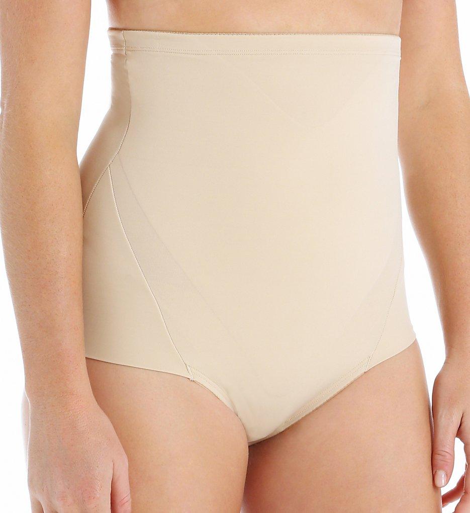 Naomi & Nicole - Naomi & Nicole 7045 Leg Comfort Hi Waist Brief Panty (Nude S)