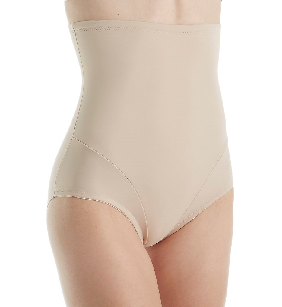 Naomi & Nicole - Naomi & Nicole 7085 Luxe Shaping Hi-Waist Brief with Back Magic (Cupid Nude L)