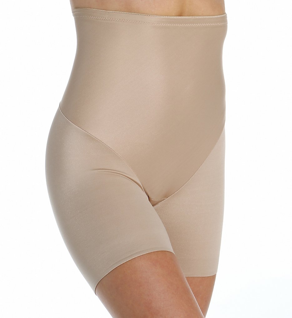 Naomi & Nicole - Naomi & Nicole 7118 Smooth Away Back Magic Hi-Waist Boyshort Panty (Nude M)