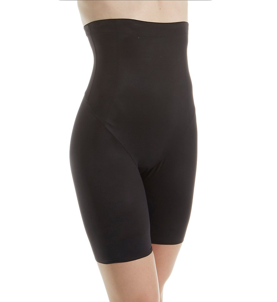 Naomi & Nicole - Naomi & Nicole 7239 More...or Less! Hi-Waist Thigh Slimmer (Black L)
