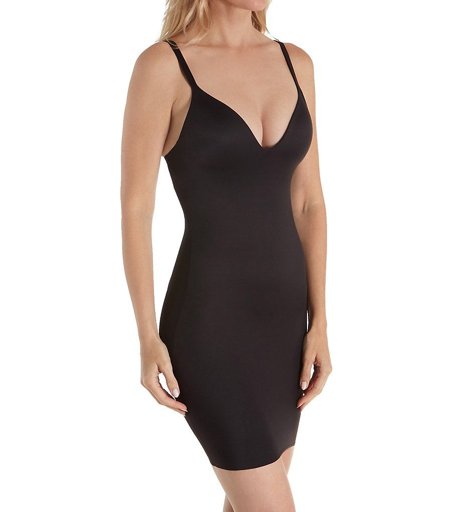 Naomi & Nicole : Naomi & Nicole 7342 Shapes Your Curves Plunge Full Slip (Black S)