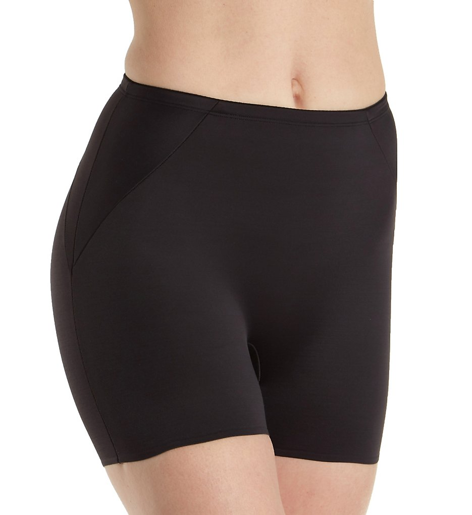 Naomi & Nicole - Naomi & Nicole 7348 Shapes Your Curves Waistline Boy Short (Black M)