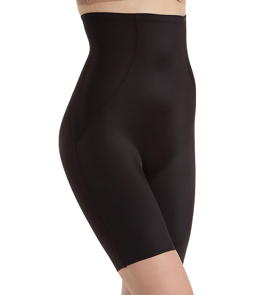 Naomi & Nicole - Naomi & Nicole 7349 Shapes Your Curves Hi-Waist Thigh Slimmer (Black M)
