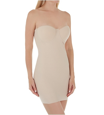 Naomi & Nicole Luxe Shaping Strapless Bra Slip w/ Built-In Panty