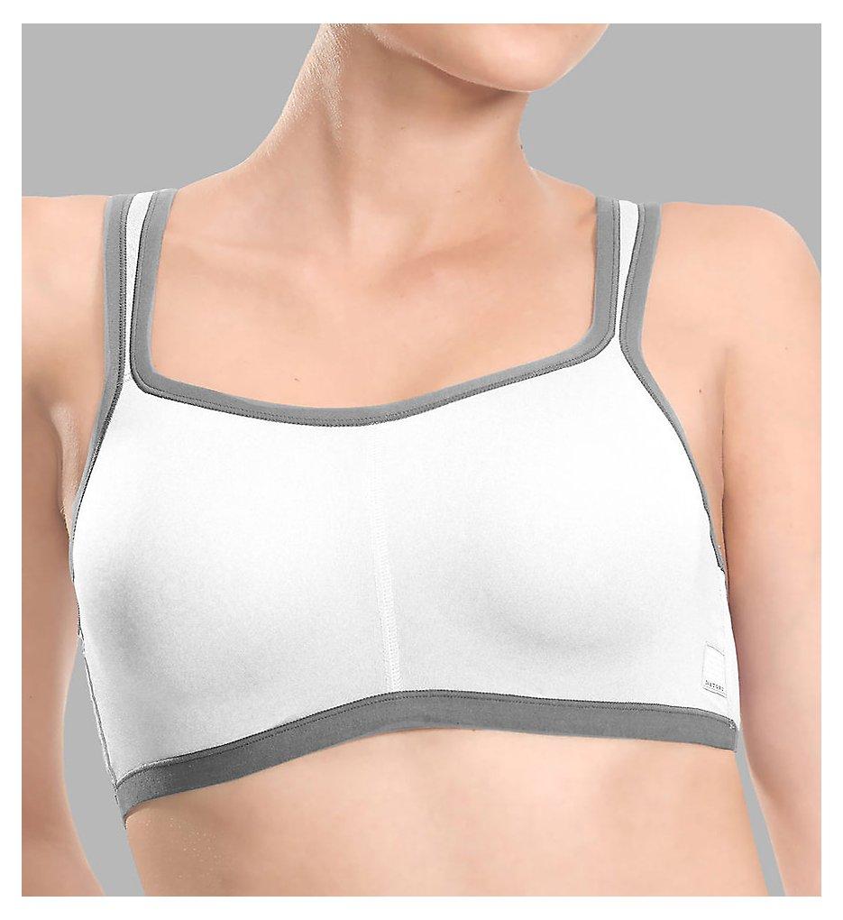 Natori 731050 Yogi Sports Bra (White Grey)
