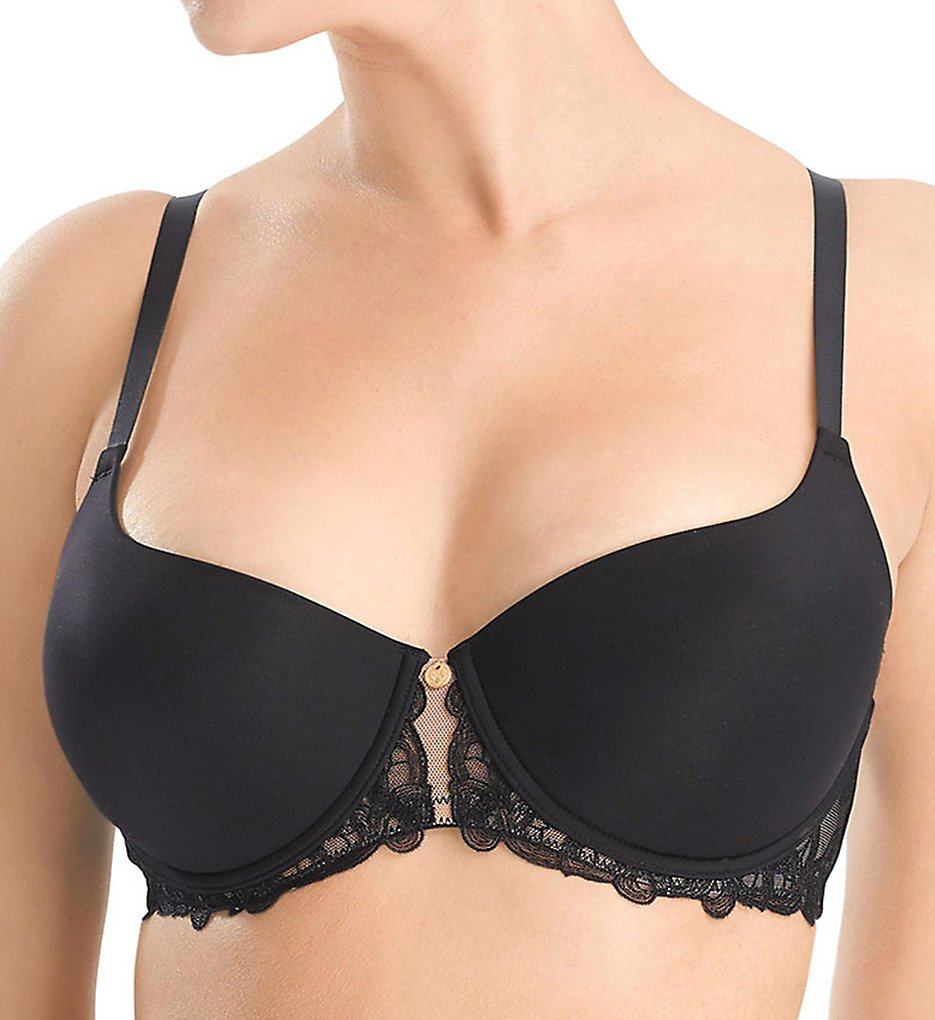 Natori >> Natori 733097 Plus Support True Decadence Demi Contour Bra (Black/Cafe 30G)