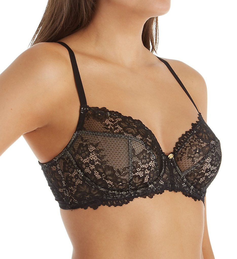 Natori >> Natori 736193 Manila Convertible Full Fit Unlined Underwire Bra (Black/Cosmetic 34DD)
