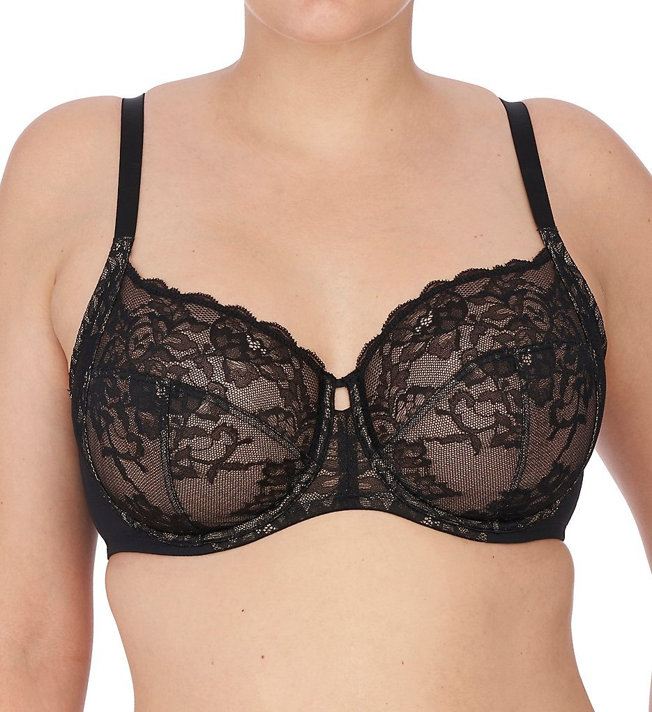 Natori >> Natori 746211 Statement Full Figure Underwire Bra (Black/Cafe 30C)