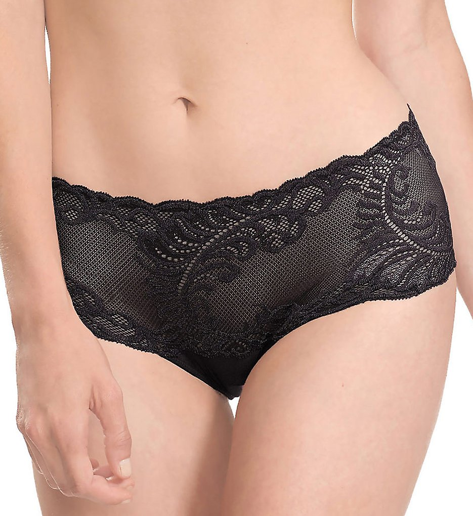 Natori >> Natori 756023 Feathers Girl Brief Panty (Black L)