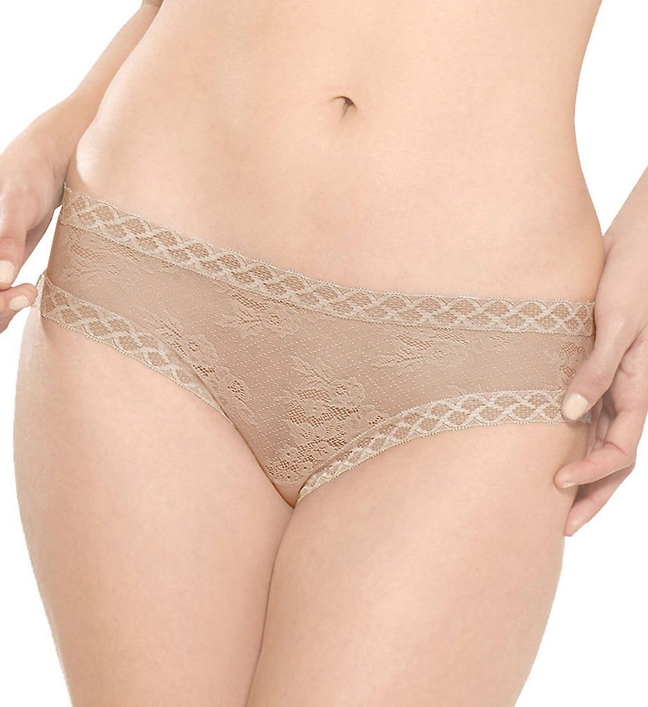 Natori >> Natori 756042 Bliss Lace Girl Brief Panty (Cafe M)