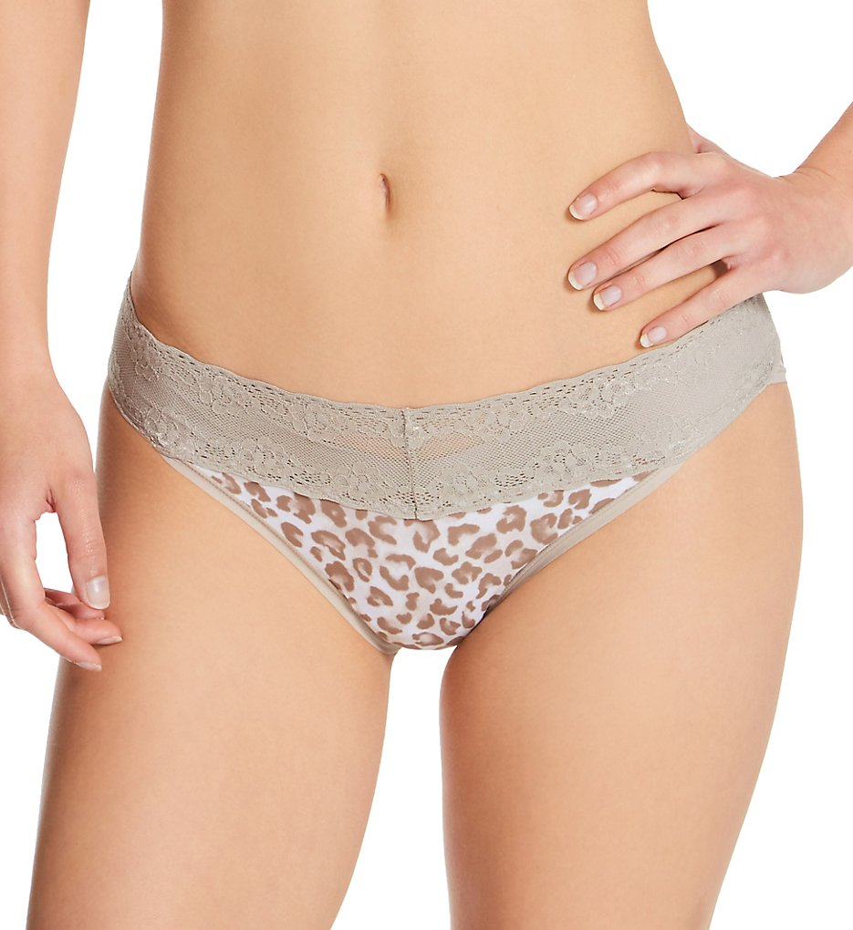 Natori - Natori 756092 Bliss Perfection One Size Fits All V-Kini Panty (Sandcastle Animal Prnt O/S)