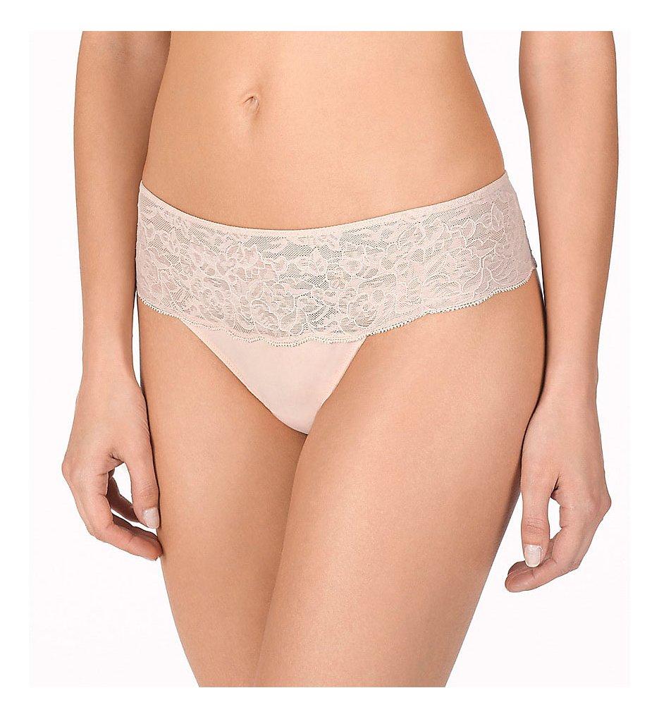 Natori - Natori 771152 Retouch Thong Panty (Cameo Rose L)