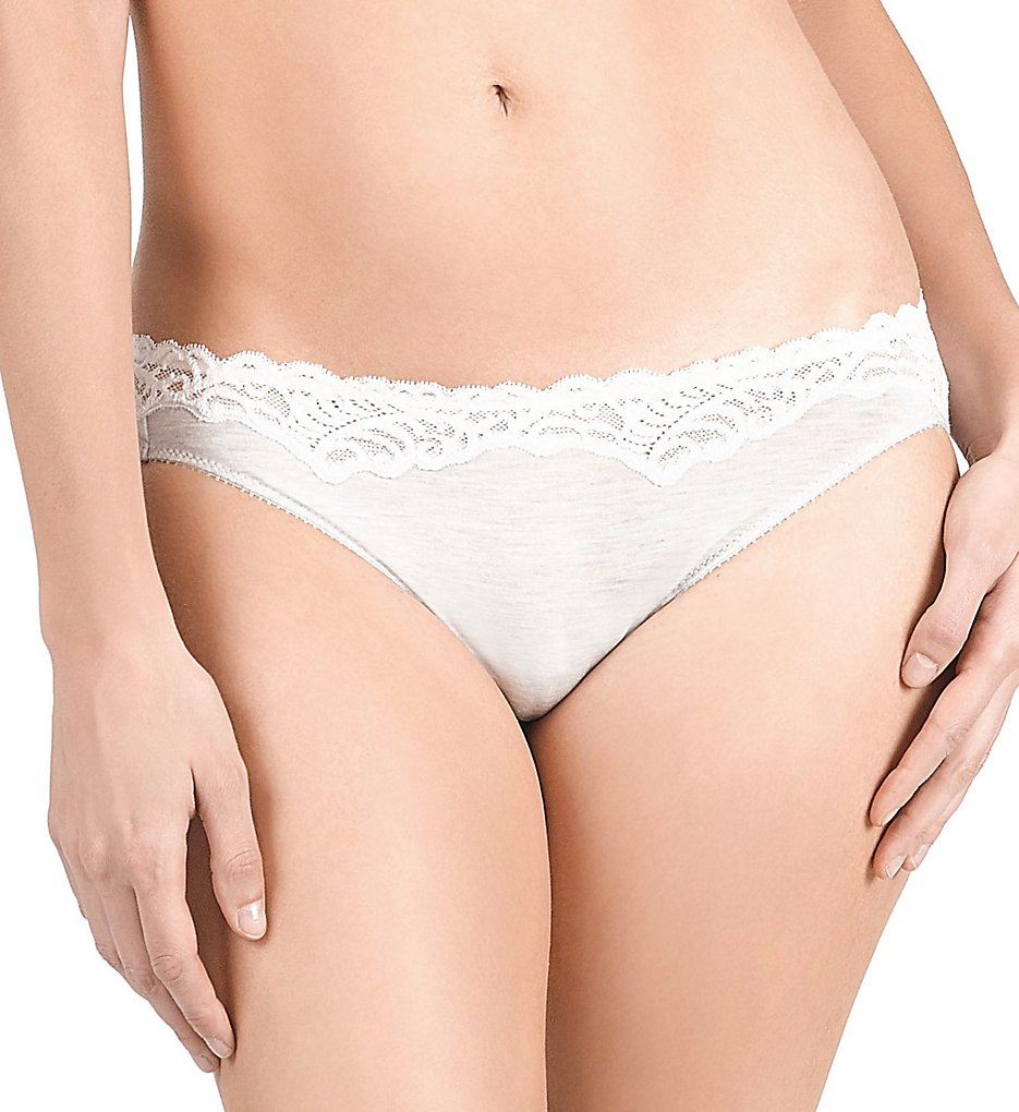 Natori >> Natori 773158 Feathers Essence Bikini Panty (Feather Grey/White XL)