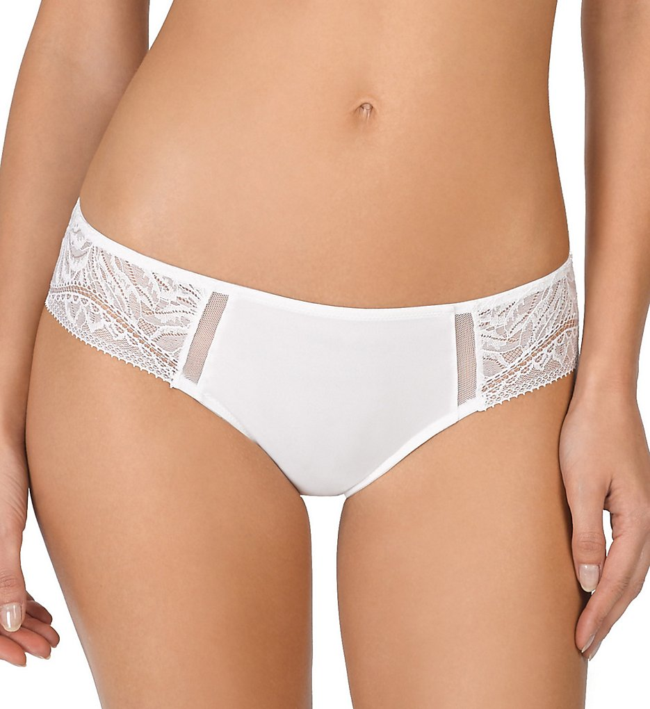 Natori >> Natori 777181 Bella Cheeky Brief Panty (White S)