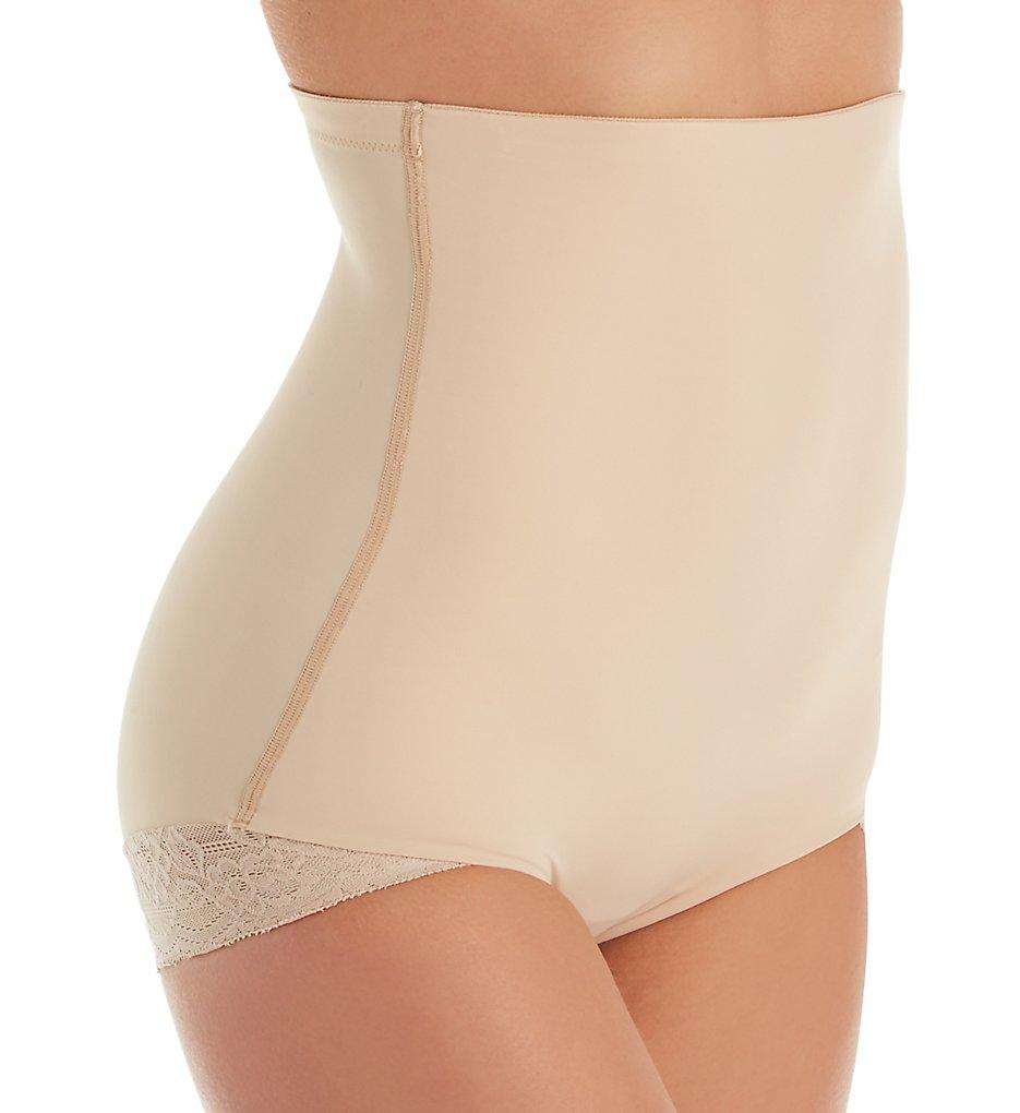 Natori - Natori 786222 Plush Hi Waist Brief Panty (Cafe XL)