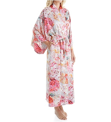 Natori Autumn Printed Silky Charmeuse Long Robe