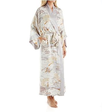 Natori Forbidden City Printed Silky Charmeuse Long Robe