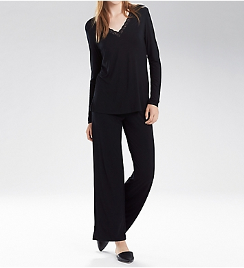 Natori Feathers Long Sleeve PJ Set